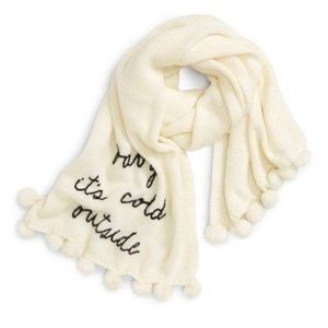 "kate spade ""baby it's cold outside"" scarf"